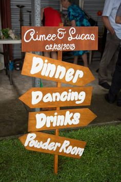 Handmade wedding reception directional signs made to order.  $40 for one this size.