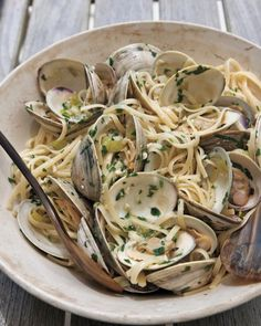 Linguine with Clams + recipe #italian