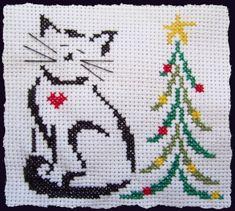 Point de croix : Britty christmas kitty