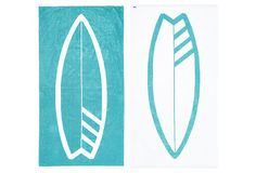 #NYCUrchin Surfboard Beach Towel, Turq on OneKingsLane.com. Just bought 2 of these bad boys! great design