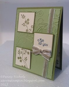 Birthday #card I made using Stampin' Up! Thoughts and Prayers stamp set.