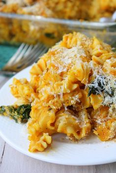 Skinny pumpkin pasta bake... for the leftover pumpkin that i didn't use