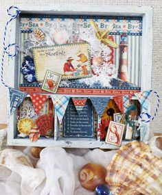 By the Sea tray - Scrapbook.com - Made with Graphic 45 products.