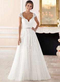 c6ead625e95 Stella York 6391 romantic cap sleeve wedding dress