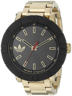 Amazon.com  adidas Men s ADH3003 Amsterdam Gold-Tone Stainless Steel Watch   Adidas 59e0898e0