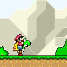 Super Mario World Super Mario Bros, Mundo Super Mario, Super Mario Games, Super Mario World, Super Mario Brothers, Super Smash Bros, Hama Beads Minecraft, Lego Minecraft, Perler Beads