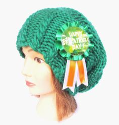 Slouchy beanie hat green slouch hats Irish knit by Johannahats, $44.00 #Irish, #knit, #slouchy, #beanie, #hat, #emerald, #green, #soft, #wool, #stpatricksday, #button, #detail, #fun, #knitted, #slouch, #hats, #adult, #accessory, #fashion, #woman, #women, #girl, #warm, #fall, #autumn, #winter, #ski, #teenager, #chunky, #paddys, #spring, #gift, #fresh, #beanies, #badge, #day