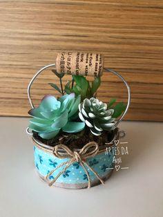 Barn Wood Crafts, Rustic Crafts, Metal Crafts, Tin Can Crafts, Fun Crafts, Diy And Crafts, Home Crafts, Succulent Arrangements, Succulent Pots