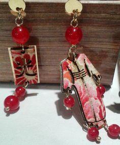Orecchini Lebole Gioielli Mini kimono in argento e antiche stoffe di kimono giapponesi #orecchini #kimono #sete #antiche #lebolegioielli #argento #accessorie #madeinitaly #moda #outfit #jewelry #cool...