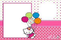 Hello Kitty Invitation Card, Hello Kitty Birthday Invitations, Birthday Invitation Card Template, Invitation Layout, Party Invitations, Hello Kitty Themes, Hello Kitty Pictures, Hello Kitty Backgrounds, Hello Kitty Wallpaper