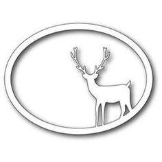 Memory Box Dies, Standing Deer Oval Frame