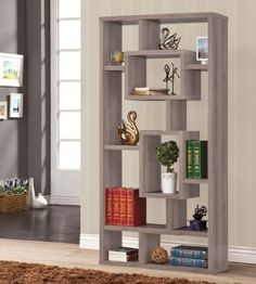 Bookshelf Distressed Grey Coaster Home Furnishings http://www.amazon.com/dp/B00FPGXKR4/ref=cm_sw_r_pi_dp_-fP-ub0Y0VKF0