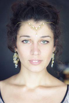 Fairy bridal wedding woodland circlet tiara  hammered by SabiKrabi, $70.00