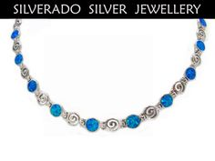 Ancient Greek Spiral Infinity Key And Manmade Opal Stone Necklace 45 cm 18 inches Sterling Silver 925 by SilveradoJewellery on Etsy Stone Necklace, Beaded Necklace, Tribal Jewelry, Unique Jewelry, Greek Jewelry, Ancient Greek, Spiral, Bracelets, Necklaces