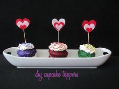 Valentine Crafts : DIY Valentine Cupcake Topper Tutorial