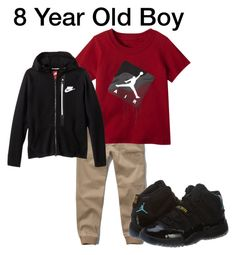 """8 Year Old Style for a Boy"" by kmbays on Polyvore featuring NIKE"