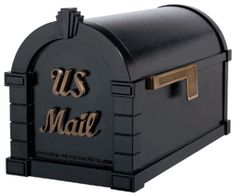 Signature Keystone Series Mailboxes Black with Antique Bronze
