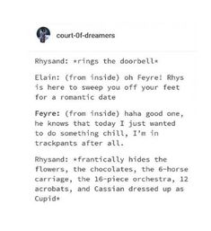 What did Rhys promise Cassian. Or did Cassian do it voluntarily?<<He did because he wanted Nesta to see him in his sexy Cupid costume. A Court Of Wings And Ruin, A Court Of Mist And Fury, Book Tv, Book Nerd, Book Memes, Book Quotes, Acotar Funny, Sara J Maas, Feyre And Rhysand