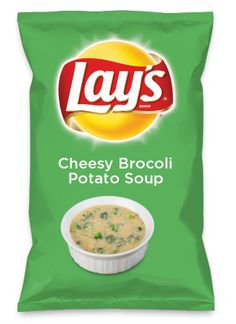 Wouldn't Cheesy Brocoli Potato Soup be yummy as a chip? Lay's Do Us A Flavor is back, and the search is on for the yummiest flavor idea. Create a flavor, choose a chip and you could win $1 million! https://www.dousaflavor.com See Rules.