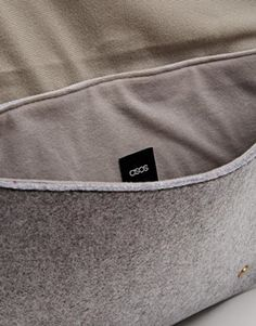 ASOS Laptop Case in Wool Fabric with Straps   @giftryapp