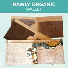 sewing bags for women Rawly Organic Wallet ~ PDF Pattern - Man Projects, Sewing Projects, Sewing Crafts, Sewing Men, Sewing Clothes, Hand Sewing, Diy Wallet, Cork Fabric, Vide Poche