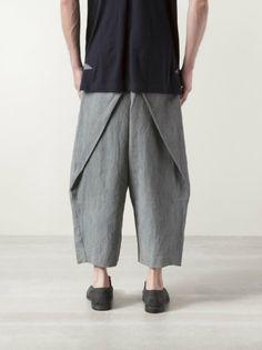 ZIGGY CHEN - Pleated Cropped Trouser - OM410503 GRAYISH GREEN - H. Lorenzo