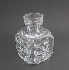 Glass Vase, The dice have been thrown, Erkki Tapio Siiroinen - Riihimäki Glass - 1970/75
