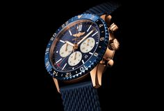 Breitling Chronoliner B04 in pink gold and blue ceramic