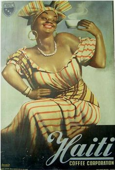 By Gino Boccasile (1901-1952), 1946, Haiti coffee.