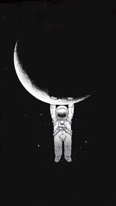 East Urban Home 'Help!' Graphic Art Print on Metal Size: Dark Wallpaper, Galaxy Wallpaper, Wallpaper Backgrounds, Astronaut Wallpaper, Space Illustration, Cute Wallpapers, Iphone Wallpapers, Aesthetic Wallpapers, Graphic Art