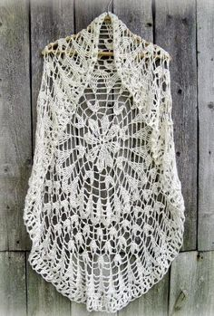 "Crochet Sweater: Crochet Circle Vest  - Chic Vest For Women ♥LCC♥ with diagram, scroll down and click where it says ""pattern"" to see the diagram"