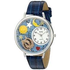 Whimsical Unisex #Pisces Royal Blue Leather Watch. #zodiac #birthday