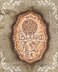 Blessed Be Witch Pagan Wiccan Wicca Sign Plaque by thespelllingbee