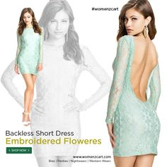 8d02cc26218 Show off some skin in our selection of embroided backless dresses. Shop  stylish backless dress