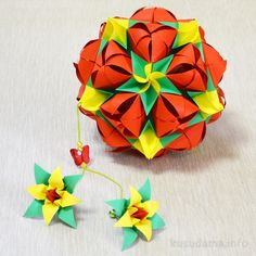 Kusudama Sweet Spring Tutorial - Designer: Natalia Romanenko (inspired by Tomoko Fuse's Laconical roll obi) Units: 30+60