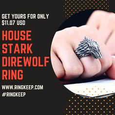#ring #rings #ringkeep #mensrings #mensring #fashion #accesories #style #stainlessteel #gameofthrones #got #housestark #stark #direwolf #wolf