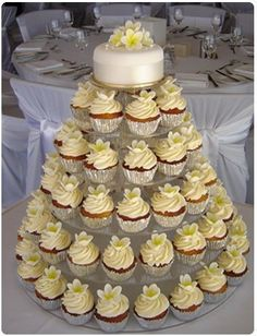 Hot Pink Wedding Cupcake Tower instead of pink do your pretty blue