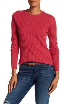 Image of In Cashmere Cable Knit Cashmere Sweater