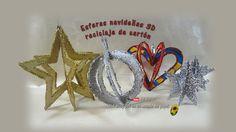 SOL EN SU MUNDO DE PAPEL: Esferas navideñas 3D reciclaje de cartón