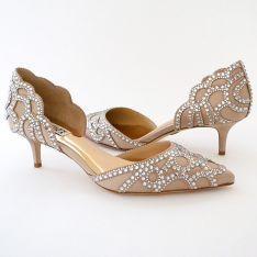 Badgley Mischka Ginny Latte Wedding Shoes