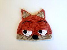 Zootopia Nick Wilde Hat Crochet Nick Wilde by TheCranberryCreek