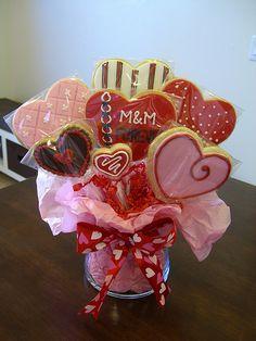 Valentine Cookie Bouquet #4