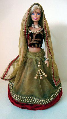 Indian BArbie Doll in Lehenga