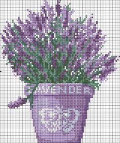 cross stitch lavender - RTO С011