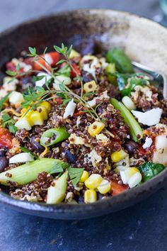 Southwestern Quinoa Scramble