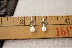 Pearl on the Hoop Earrings