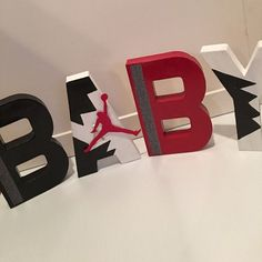 Jordan Theme Baby Shower Hand Painted Paper Mache by ChaliceTee