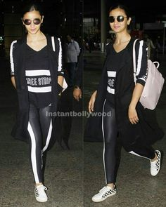 Airport Spotting 👉 Alia Bhatt seen as she arrives back in Mumbai after celebrating her friend's B'day in Marbella. @Instantbollywood ❤ ❤ ❤ .