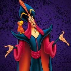 『アラジン』に登場するアグラバーの宮殿にいる邪悪な大臣ジャファー★ ディズニー・ヴィランズのイラスト画像