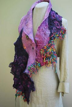 Hand felted scarf | Flickr - Photo Sharing!